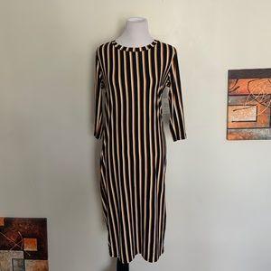 Vibe Sportswear Stripped Midi Dress